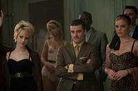 Jena Malone as Rocket, Oscar Isaac as Blue Jones and Abbie Cornish as Sweet Pea in