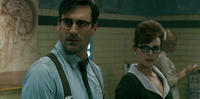 Jon Hamm as Doctor and Carla Gugino as Dr. Vera Gorski in