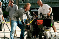 Director/Executive Producer Michael Bay on the set of