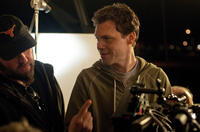 Cinematographer Michael Grady and Director Will Gluck on the set of