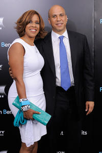 Media personality Gayle King and Newark Mayor Cory Booker at the New York premiere of