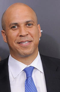 Newark Mayor Cory Booker at the New York premiere of