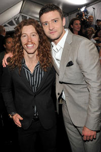 Shaun White and Justin Timberlake at the New York premiere of