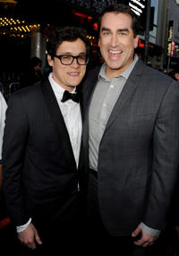 Director Phil Lord and Rob Riggle at the California premiere of