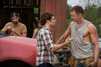 Rhys Coiro as Norman, James Marsden as David Sumner and Alexander Skarsgard as Charlie in