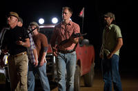 James Woods as Tom Heddon, Billy Lush as Chris, Alexander Skarsgard as Charlie and Rhys Coiro as Norman in