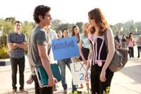 Penn Badgley as Todd and Emma Stone as Olive Penderghast in