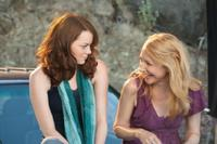 Emma Stone as Olive Penderghast and Patricia Clarkson as Olives mother Rosemary in