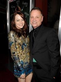 Emma Stone and Clint Culpepper at the California premiere of