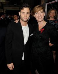 Penn Badgley and producer Zanne Devine at the California premiere of