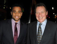 Michael Ealy and producer Gary Lucchesi at the California premiere of