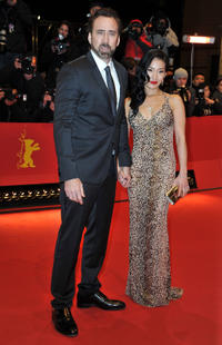 Nicolas Cage and Alice Kim at the Germany premiere of