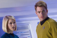 Alice Eve and Chris Pine in