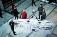 Alice Eve, Simon Pegg, Karl Urban and Chris Pine in