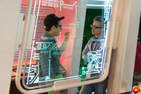 Director J.J. Abrams and producer Alex Kurtzman on the set of