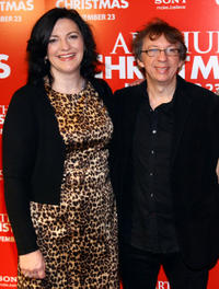 Director Sarah Smith and writer Peter Baynham at the New York premiere of