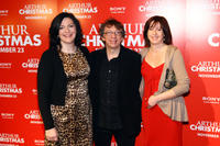 Director Sarah Smith, writer Peter Baynham and producer Carla Shelley at the New York premiere of