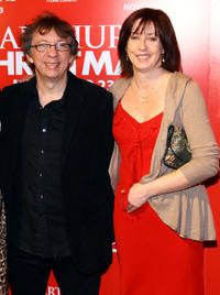 Writer Peter Baynham and producer Carla Shelley at the New York premiere of