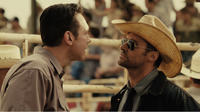 Kevin Durand as Ricky and Hugh Jackman as Charlie Kenton in