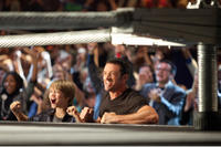 Dakota Goyo as Max and Hugh Jackman as Charlie Kenton in