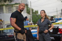 Dwayne Johnson and Elsa Pataky in