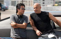 Justin Lin and Vin Diesel in
