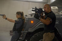 Elsa Pataky and Dwayne Johnson in