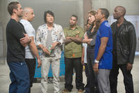 Vin Diesel, Kang Sung, Tyrese Gibson, Tego Calderon, Don Omar and Gal Gadot in