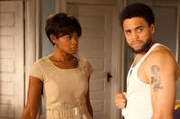 Kimberly Elise as Crystal and Michael Ealy as Beau Willie in