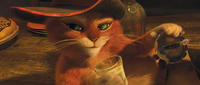 Puss In Boots voiced by Antonio Banderas in