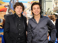 Jesse Eisenberg and Jake T. Austin at the California premiere of