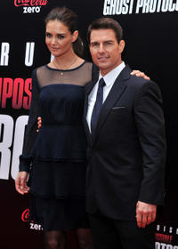 Katie Holmes and Tom Cruise at the New York premiere of