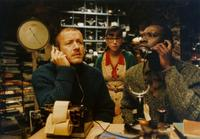 Dany Boon as Bazil, Marie-Julie Baup as Calculator and Omar Sy as Remington in