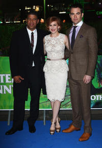 Director Peter A. Ramsey, Isla Fisher and Chris Pine at the UK premiere of