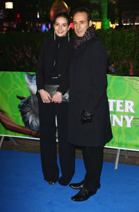 Composer Alexandre Desplat and Guest at the UK premiere of