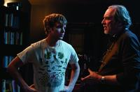 Max Thieriot and writer/director Wes Craven on the set of