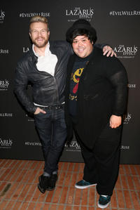 Christian Taylor and Harvey Guillen at the California special screening of