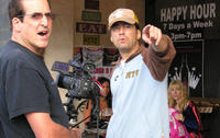 Adam Teichman and Steven Peros on the set of