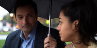 Al Bandiero and Mr. Martin and Aimee Garcia as Carmen Salgado in