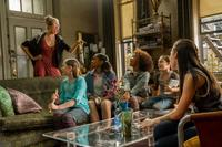Cameron Diaz as Miss Hannigan, Zoe Margaret Colletti as Tessie, Eden Duncan-Smith as Isabella, Quvenzhane Wallis as Annie, Nicolette Pierini as Mia and Amanda Troya as Pepper in