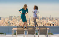 Rose Byrne as Grace and Quvenzhane Wallis as Annie in
