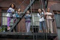 Quvenzhane Wallis as Annie, Nicolette Pierini as Mia, Zoe Margaret Colletti as Tessie, Amanda Troya as Pepper and Eden Duncan-Smith as Isabella in