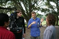 Director Daniel Stamm on the set of