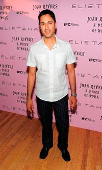 Maulik Pancholy at the New York premiere of