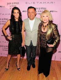 Rory Tahari, Elie Tahari and Joan Rivers at the New York premiere of