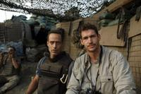 Sebastian Junger and Tim Hetherington on the set of