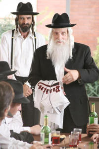 Ray Kelleher as Mendel and Jesse Bennett as The Rebbe in