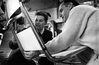 Ray Eames and Charles Eames in
