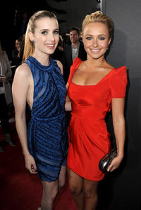 Emma Roberts and Hayden Panettiere at the California premiere of