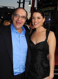 Executive producer Bob Weinstein and Neve Campbell at the California premiere of